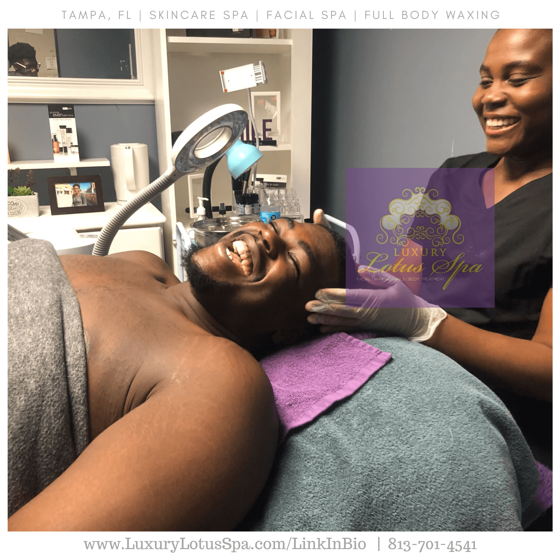 Male facial, men facial for ingrown hairs Spa facial and treatments for clear skin for men with ingrown hair