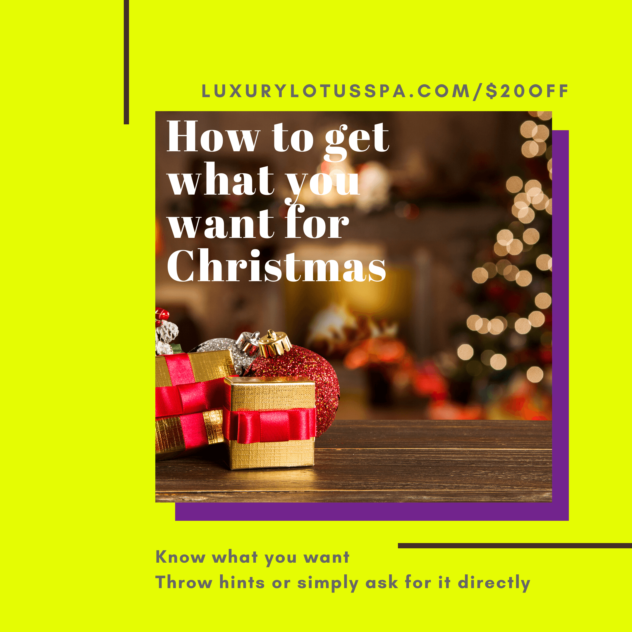 How to Get Exactly what you want for Christmas, How to Get Exactly what you want for Christmas