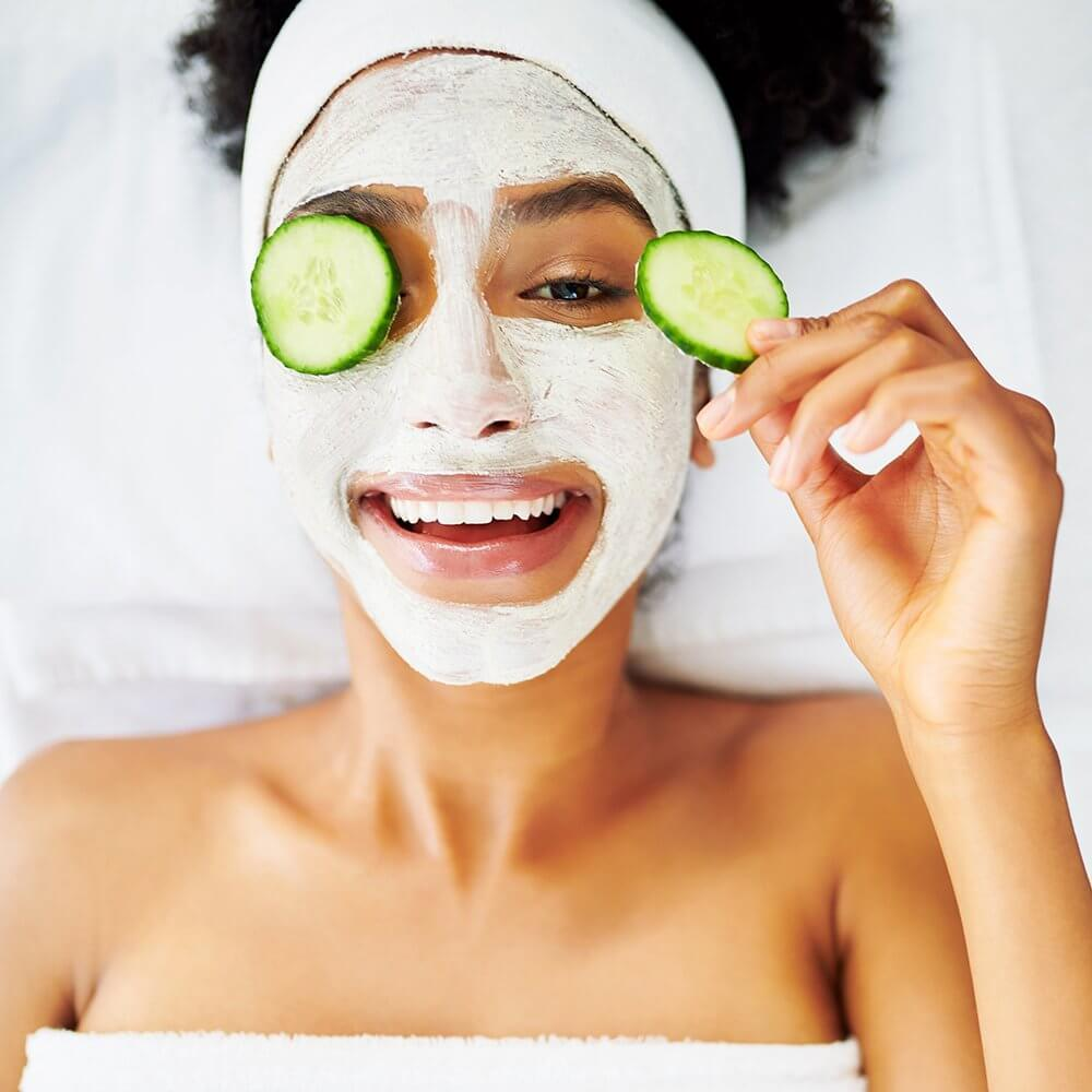 Shot of an attractive young woman getting a facial at a beauty spa, Celebrate Self Love Valentines-Day